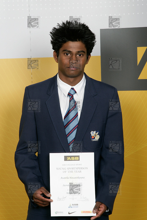 Boys Weightlifting winner Avantha Hewavitharana. ASB College Sport Young Sportperson of the Year Awards 2007 held at Eden Park on November 15th, 2007.