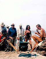 Planet of the Apes (1968) <br /> Behind the scenes photo of Charlton Heston &amp; Linda Harrison<br /> *Filmstill - Editorial Use Only*<br /> CAP/KFS<br /> Image supplied by Capital Pictures