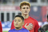 WASHINGTON, D.C. - OCTOBER 11: Josh Sargent #19 of the United States during the national anthem prior to their Nations League game versus Cuba at Audi Field, on October 11, 2019 in Washington D.C.