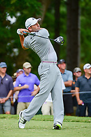 Sergio Garcia (ESP) watches his tee shot on 5 during Friday's round 2 of the PGA Championship at the Quail Hollow Club in Charlotte, North Carolina. 8/11/2017.<br /> Picture: Golffile | Ken Murray<br /> <br /> <br /> All photo usage must carry mandatory copyright credit (&copy; Golffile | Ken Murray)