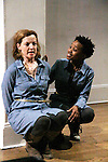 """Guiding Light Orlagh Cassidy and Mirirai Sithole star in play as The Cell presents Origin Theatre Company with the North American Premiere of """"The Hundred We Are""""  at the dress rehearsal on March 16, 2016 through April 8 at the Cell Theatre on 23rd St, New York City, New York. (Photo by Sue Coflin/Max Photos)"""