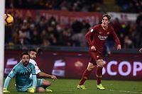 Nicolo Zaniolo Roma scores a goal.<br /> Roma 26-12-2018 Stadio Olimpico<br /> Football Calcio Campionato Serie A<br /> 2018/2019 <br /> AS Roma - Sassuolo<br /> Foto Antonietta Baldassarre / Insidefoto