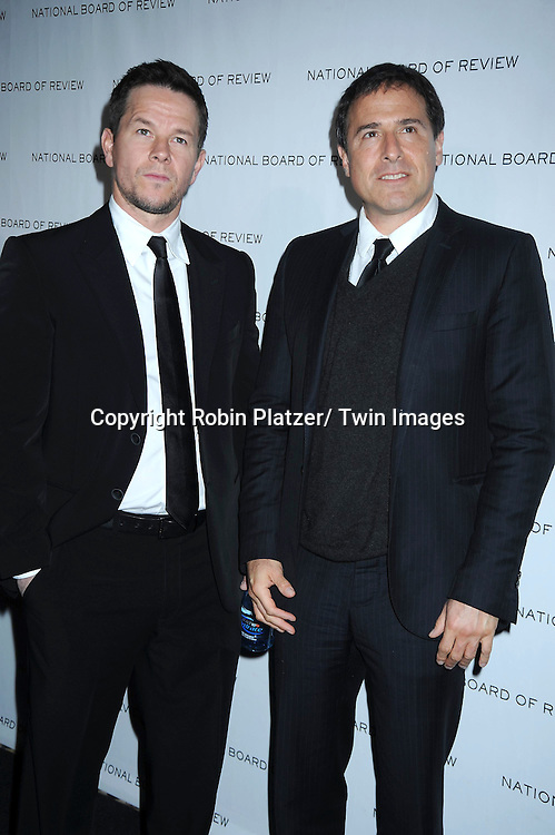 Mark Wahlberg and David O Russell arriving at The National Board of Review of Motion Pictures Awards Gala on .January 11, 2011 at Cipriani 42nd Street in New York City.