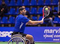 December 20, 2014, Rotterdam, Topsport Centrum, Lotto NK Tennis, Mens doubles wheelchair final, Rik Molier<br /> Photo: Tennisimages/Henk Koster