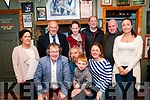Visit : Members of the Kerry Association in Dublin who visited Listowel on Saturday last pictured in JB Keane's Bar. Front : Gabriel Fitzmaurice, Mick MacConnell with Michael Fitzgerald & Keelin Kissane, Chairperson, Kerry Association. Bcak : Aoife Corridon, John O'Sullivan, Eileen & David Fitzgerald, Maurice Moynihan & Joanne Keane.