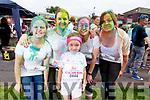 Ellie O'Sullivan (Firies), Mag O'Sullivan (Currow), Olivia, Ava and Helena O'Sullivan (Firies) enjoying the colour run in Killarney on Sunday..