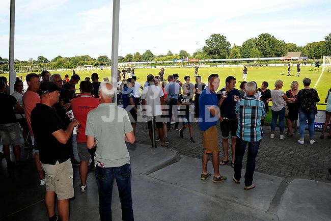 SCHOONEBEEK - Voetbal, SVV 04 - FC Emmen, voorbereiding seizoen 2018-2019, 06-07-2018,  sfeerfoto publiek op het fraaie terras
