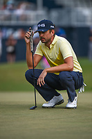 Scott Harrington (USA) looks over his putt on 18 during round 4 of the 2019 Houston Open, Golf Club of Houston, Houston, Texas, USA. 10/13/2019.<br /> Picture Ken Murray / Golffile.ie<br /> <br /> All photo usage must carry mandatory copyright credit (© Golffile | Ken Murray)