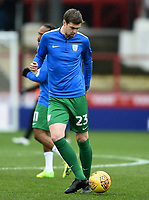 Preston's Paul Huntington during the pre-match warm-up <br /> <br /> Photographer Jonathan Hobley/CameraSport<br /> <br /> The EFL Sky Bet Championship - Brentford v Preston North End - Saturday 10th February 2018 - Griffin Park - Brentford<br /> <br /> World Copyright &copy; 2018 CameraSport. All rights reserved. 43 Linden Ave. Countesthorpe. Leicester. England. LE8 5PG - Tel: +44 (0) 116 277 4147 - admin@camerasport.com - www.camerasport.com