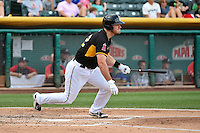 John Hester (22) of the Salt Lake Bees at bat against the Reno Aces in Pacific Coast League action at Smith's Ballpark on July 23, 2014 in Salt Lake City, Utah.  (Stephen Smith/Four Seam Images)