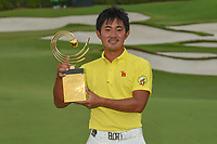 New champion, Takumi KANAYA (JPN) with the trophy for winning the Asia-Pacific Amateur Championship, Sentosa Golf Club, Singapore. 10/7/2018.<br /> Picture: Golffile | Ken Murray<br /> <br /> <br /> All photo usage must carry mandatory copyright credit (&copy; Golffile | Ken Murray)