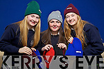 Students from Presentation secondary school Tralee who are to appear on Dragons Den on Sunday with their Beanie hat business, from left: Katie Dillon, Rebecca O'Neill and Clare Dillon.