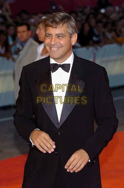 "GEORGE CLOONEY.62nd International Film Festival,.At the premiere of ""Good Night, And Good Luck"".Venice, 1st September 2005.portrait headshot La Bienale black tie tuxedo .www.capitalpictures.com.sales@capitalpictures.com.© Capital Pictures."