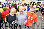 Bryan Hobbart,  Grubin Skatie John Hanafin, who took part in the Carers 10k run on Sunday.