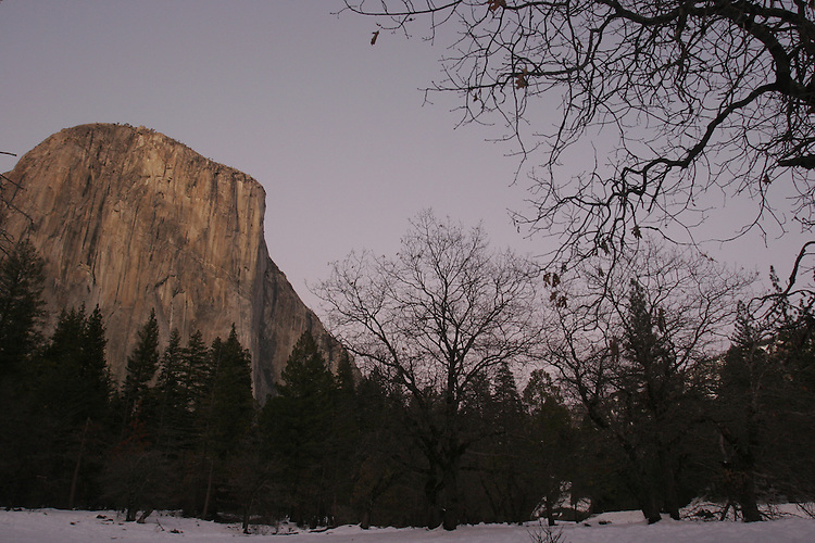 YOSEMITE NATIONAL PARK, CALIF.  IN WINTER JANUARY 13-14, 2009..Photo: Gerard Burkhart 818-207-0273.