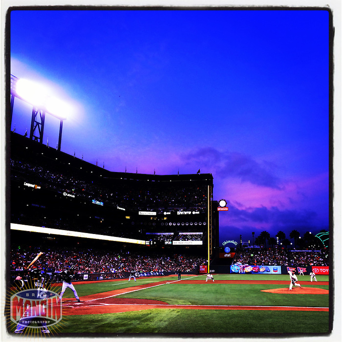 SAN FRANCISCO, CA - AUGUST 12: Instagram of general scene during a game between the Chicago White Sox and San Francisco Giants at AT&T Park on August 12, 2014 in San Francisco, California. Photo by Brad Mangin