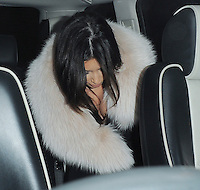 Kim Kardashian seen leaving The Met hotel, London, UK.08/11/2012.<br />