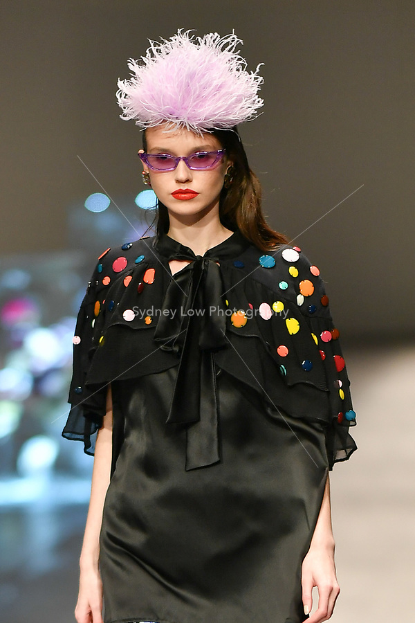 8 September 2017, Melbourne - A model wearing a design by Romance Was Born at the Closing Runway parade during the Melbourne Fashion Week in Melbourne, Australia. (Photo Sydney Low / asteriskimages.com)
