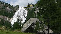 Piemonte,  la Cascata del Toce utilizzata per produrre energia idroelettrica &egrave; considerata una delle pi&ugrave; spettacolari delle Alpi, in alta Val Formazza.<br /> Piedmont, Cascata del Toce is a waterfall used for hydroelectric purposes, considered one of the most spectacular in the Alps, in Val Formazza.