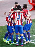 Atletico de Madrid's players celebrate goal during La Liga match. March 19,2017. (ALTERPHOTOS/Acero) /NORTEPHOTO.COM