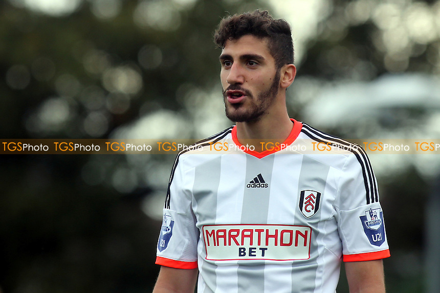 Marcello Trotta, scorer of two goals for Fulham Under 21's against Liverpool Under 21's - Fulham Under-21 vs Liverpool Under-21 - Barclays Under-21 Premier League Football at Motspur Park Training Ground, Surrey - 26/10/14 - MANDATORY CREDIT: Paul Dennis/TGSPHOTO - Self billing applies where appropriate - contact@tgsphoto.co.uk - NO UNPAID USE