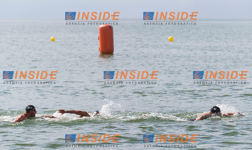 Team ITALY Gold medal - BRUNI Rachele, RUFFINI Simone, VANELLI Federico<br /> Hoorn, Netherlands <br /> LEN 2016 European Open Water Swimming Championships <br /> Open Water Swimming<br /> 5km Team Event Mixed<br /> Day 03 13-07-2016<br /> Photo Giorgio Perottino/Deepbluemedia/Insidefoto
