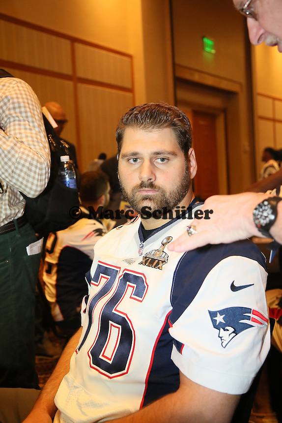 OT Sebastian Vollmer (Patriots) - Super Bowl XLIX New England Patriots Team-PK, Sheraton Arizona Grand Hotel