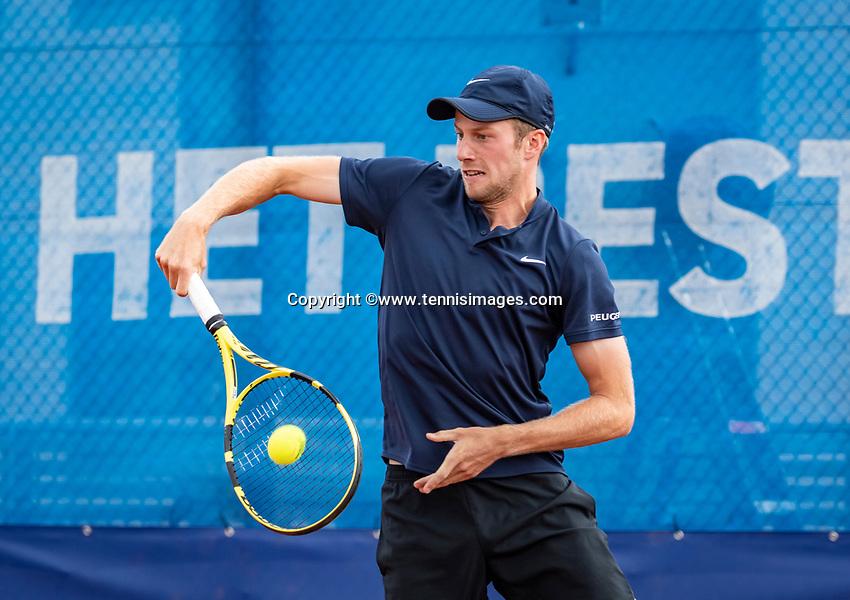 Amstelveen, Netherlands, 1 August 2020, NTC, National Tennis Center, National Tennis Championships, Men's Doubles final: Botic van de Zandschulp (NED)<br /> Photo: Henk Koster/tennisimages.com