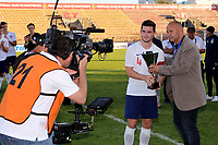 Lewis Cook of England U21's wins the second best player of the Tournament Award during Mexico Under-21 vs England Under-21, Tournoi Maurice Revello Final Football at Stade Francis Turcan on 9th June 2018
