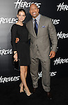 Barbara Palvin and Dwayne Johnson arriving at the Hercules Los Angeles Premiere held at the TCL Chinese Theatre Los Angeles, CA. July 23, 2014.