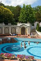 HUN, Ungarn, Budapest, Stadtteil Buda: Gellértbad, Freibecken | HUN, Hungary, Budapest, Buda District: Gellért bath, outdoor pool