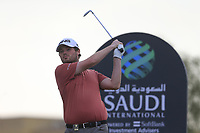 Cormac Sharvin (NIR) on the 8th tee during the 2nd round of  the Saudi International powered by Softbank Investment Advisers, Royal Greens G&CC, King Abdullah Economic City,  Saudi Arabia. 31/01/2020<br /> Picture: Golffile | Fran Caffrey<br /> <br /> <br /> All photo usage must carry mandatory copyright credit (© Golffile | Fran Caffrey)