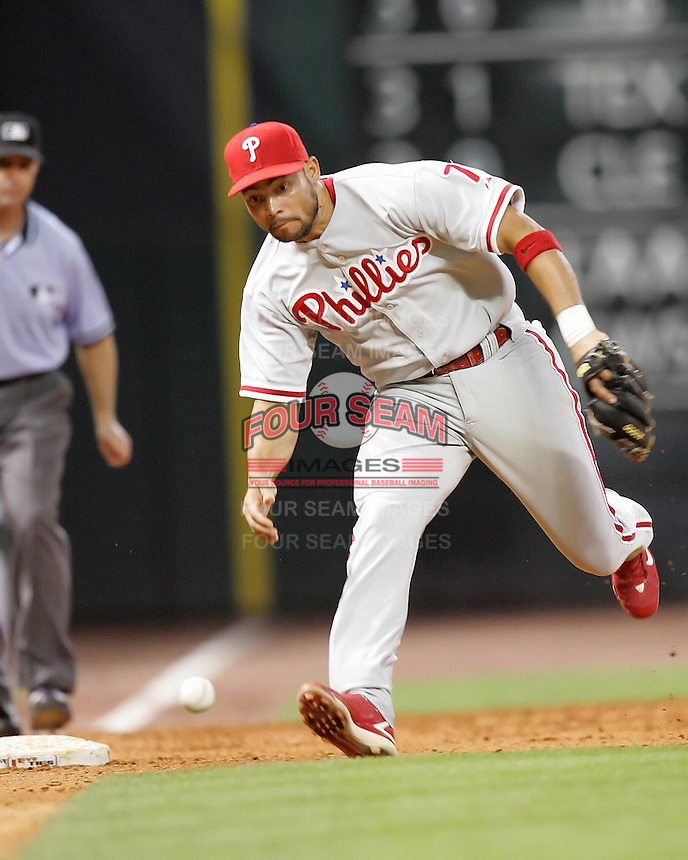 Phillies 3B Pedro Feliz on Saturday May 24th at Minute Maid Park in Houston, Texas. Photo by Andrew Woolley / Four Seam Images.