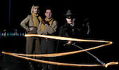 Scottish Youth Theatre photocall for Zorro - (l to r) Claire Dargo (Isabella) - Richard Conlon (Esteban) and Johnathan Holt (Zorro) – picture by Donald MacLeod 21.2.12 www.donald-macleod.com clanmacleod@btinternet.com