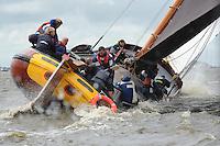 SK€TSJESILEN: WOUDSEND: 27-07-2015, SKS kampioenschap 2015, winnaar werd het sk˚tsje van Grou met schipper Douwe Azn. Visser, ©foto Martin de Jong