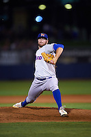 Midland RockHounds pitcher Bobby Wahl (28) delivers a pitch during a game against the Tulsa Drillers on June 2, 2015 at Oneok Field in Tulsa, Oklahoma.  Midland defeated Tulsa 6-5.  (Mike Janes/Four Seam Images)