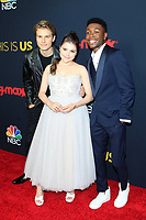 LOS ANGELES - SEP 25: Logan Shroyer, Hannah Zeile, Niles Fitch at the Premiere of NBC's 'This Is Us' Season 3 at Paramount Studios on September 25, 2018 in Los Angeles, California
