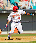 5 March 2006: Marlon Anderson, infielder for the Washington Nationals, at bat during a Spring Training game against the Baltimore Orioles. The Nationals defeated the Orioles 10-6 at Space Coast Stadium, in Viera Florida...Mandatory Photo Credit: Ed Wolfstein..