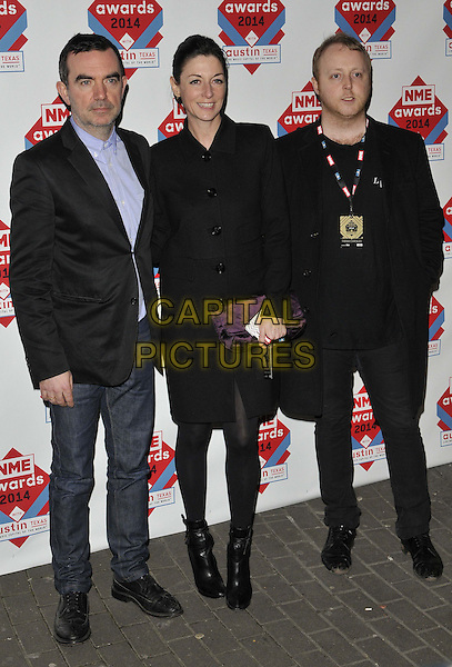 LONDON, ENGLAND - FEBRUARY 26: Simon Aboud, Mary McCartney &amp; James McCartney attend the NME Awards 2014, O2 Academy Brixton, Stockwell Rd., on Wednesday February 26, 2014 in London, England, UK.<br /> CAP/CAN<br /> &copy;Can Nguyen/Capital Pictures