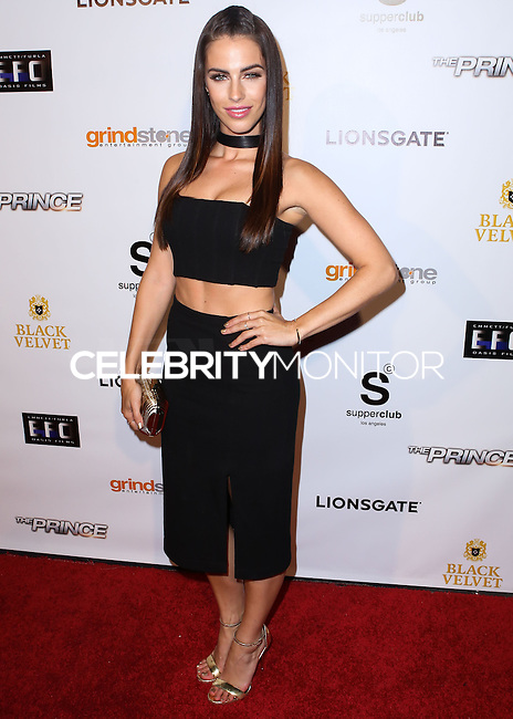 HOLLYWOOD, LOS ANGELES, CA, USA - AUGUST 18: Actress Jessica Lowndes arrives at the Los Angeles Premiere Of Lionsgate Films' 'The Prince' After Party held at Supperclub on August 18, 2014 in Hollywood, Los Angeles, California, United States. (Photo by Xavier Collin/Celebrity Monitor)