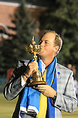 Winning European Team Player Peter Hanson (SWE) after Sunday's Singles Matches of the 39th Ryder Cup at Medinah Country Club, Chicago, Illinois 30th September 2012 (Photo Colum Watts/www.golffile.ie)