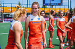 Den Bosch  -  Debutant in het grote Oranje, Felice Albers (Ned) , met Margot Van Geffen (Ned)     voor  de Pro League hockeywedstrijd dames, Nederland-Belgie (2-0).  COPYRIGHT KOEN SUYK