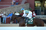 May 2, 2020: Nadal (5) with jockey Joel Rosario aboard after crossing the finish line in the 2nd division of the Arkansas Derby at Oaklawn Racing Casino Resort in Hot Springs, Arkansas on May 2, 2020. Justin Manning/Eclipse Sportswire/CSM