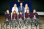 Coláiste Gleann Lí students who received Most Improved Student Awards at the school's awards on Friday afternoon Victor Danilewicz, Areej Saghir, Samila Ali, Jasmin Griffin Luke Stack, with Principal Richard Lawlor, Ms Leen and Ms O'Doherty