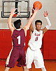 Devonte Green #11 Long Island Lutheran, right, passes away from Christopher Verre #1 of Iona Prep during a varsity boys' basketball game at Long Island Lutheran High School on Tuesday, Jan. 26, 2016. Green scored 21 in Lutheran's 58-47 win.