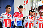 Mathieu Van Der Poel (BEL) and Corendon-Circus team at sign on before the start of Stage 4 of the 2018 Artic Race of Norway, running 145.5km from Kvalsund to Alta, Norway. 18th August 2018. <br /> <br /> Picture: ASO/Gautier Demouveaux | Cyclefile<br /> All photos usage must carry mandatory copyright credit (&copy; Cyclefile | ASO/Gautier Demouveaux)