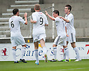 Raith Rovers' Joe Cardle celebrates after he scores their first goal.