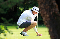 TJ Ford (Co.Sligo) on the 9th green during the Connacht U12, U14, U16, U18 Close Finals 2019 in Mountbellew Golf Club, Mountbellew, Co. Galway on Monday 12th August 2019.<br /> <br /> Picture:  Thos Caffrey / www.golffile.ie<br /> <br /> All photos usage must carry mandatory copyright credit (© Golffile | Thos Caffrey)