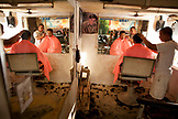 PHILIPPINES, Palawan, Puerto Princessa, Joey Unisex barbershop on Rizal Avenue, the road to the airport
