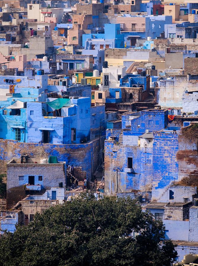 JODHPUR, INDIA - CIRCA NOVEMBER 2016:  View of Jodhpur from the Mehrangarh Fort